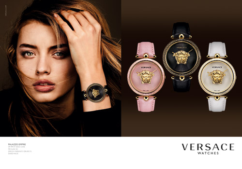 NEW VERSACE WATCHES ADVERTISING CAMPAIGN